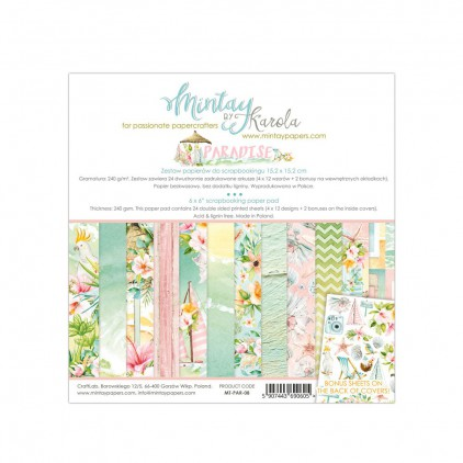 Scrapbooking paper pad - Mintay Papers - Paradise