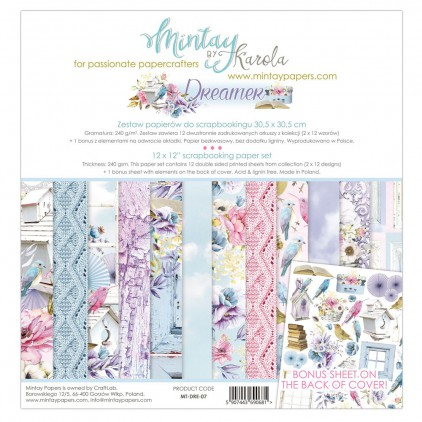 Scrapbooking paper set - Mintay Papers - Dreamer