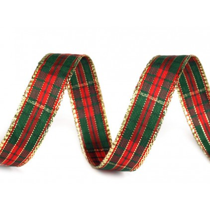 Ribbon grille with gold thread 378 - 1.5 cm - 1 meter