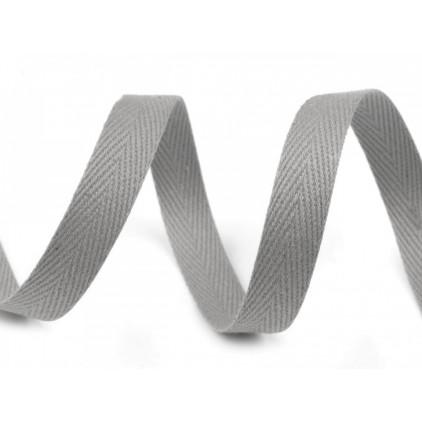 Cotton trim - width 1 cm - 1 meter - grey