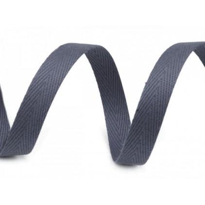 Taśma bawełniana 4052- szerokość 1 cm - 1 metr -stalowa