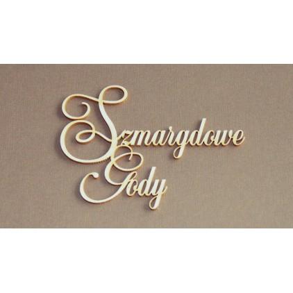 Wycinanka tekturowa - Anemone - Szmaragdowe Gody (55 rocznica ślubu)