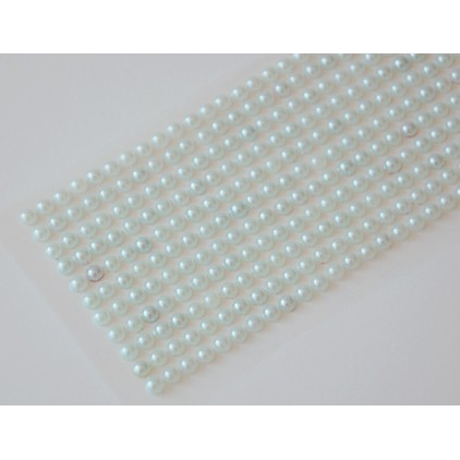 Selfadhesive decorations - half-pearls 4mm -light mint
