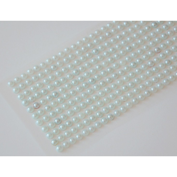 Samoprzylepne ozdoby - półperełki 4mm - jasnomiętowe