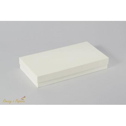 Pudełko na kartkę DL pełne, wysokie 11,0 x 22,0 x 3,5 kremowe - Rzeczy z Papieru