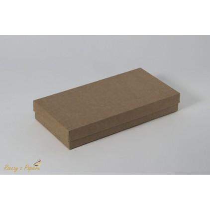 A box for a card DL full, high - 11,0 x 22,0 x 3,5 kraft - Rzeczy z Papieru