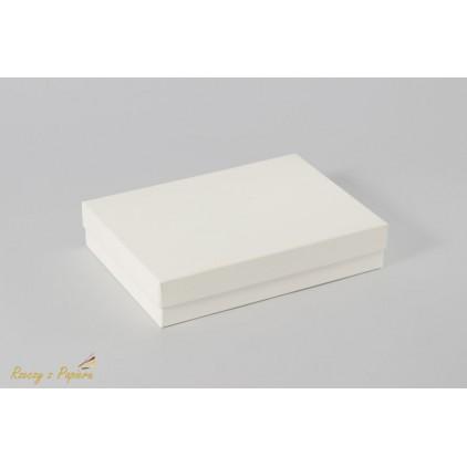 Pudełko na kartkę C6 pełne, niskie 12,4x17,2x3,5 kremowe - Rzeczy z Papieru