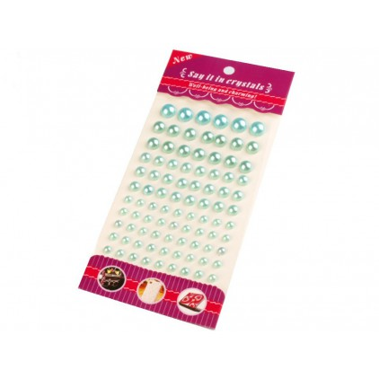 Selfadhesive decorations - half-pearls 6,8,10 i 12 mm - mint