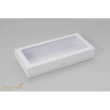 Pudełko na kartkę DL z okienkiem, wysokie 11x22x3,5  białe - Rzeczy z Papieru