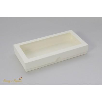 A box for card DL with a window, low -11,0 x 22,0 x 2,5 cream - Rzeczy z Papieru