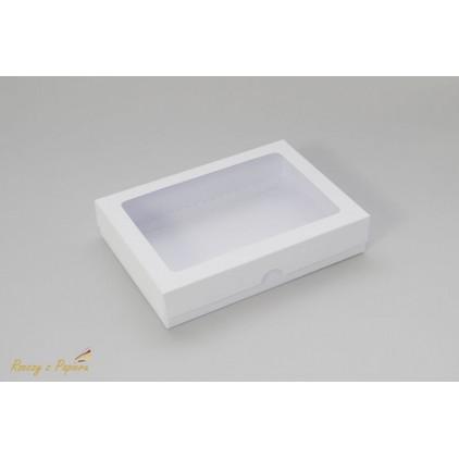 Pudełko na kartkę C6 z okienkiem, wysokie 12,4x17,2x3,5  białe - Rzeczy z Papieru