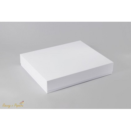 Pudełko albumowe prostokątne 23x28x5 białe - Rzeczy z Papieru
