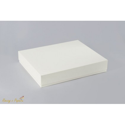 Box for a rectangular album 23x28x5 cream - Rzeczy z Papieru