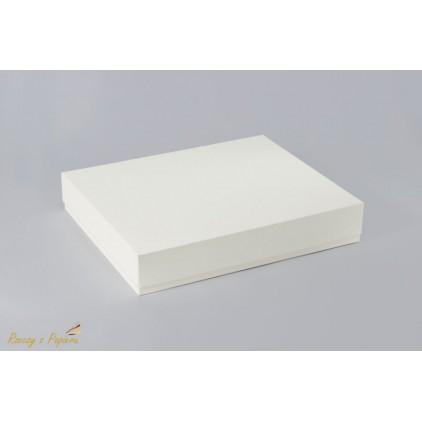 Pudełko albumowe prostokątne 23x28x5 kremowe - Rzeczy z Papieru
