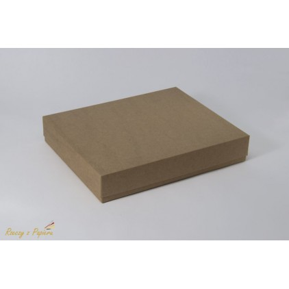 Box for a rectangular album 23x28x5 kraft - Rzeczy z Papieru