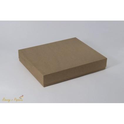 Pudełko albumowe prostokątne 23x28x5 kraft - Rzeczy z Papieru