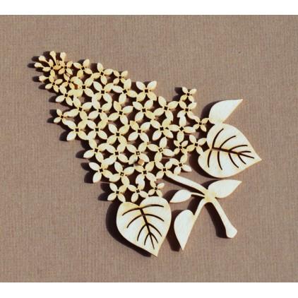 Wycinanka tekturowa - Anemone - gałązka bzu
