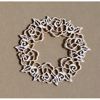 Chipboard - Anemone - Wreath of roses