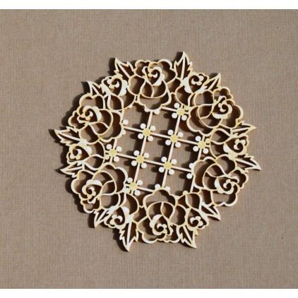 Chipboard - Anemone - Wreath of roses Richelieu
