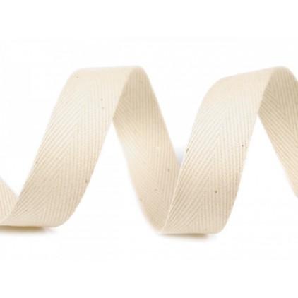 Cotton trim 00- width 14 mm - 1 meter - light ecru