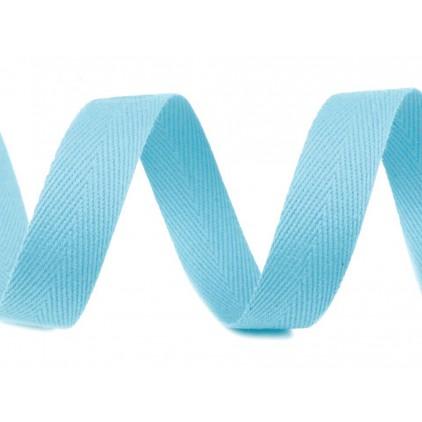 Taśma bawełniana 1708- szerokość 14mm - 1 metr - jasny niebieski