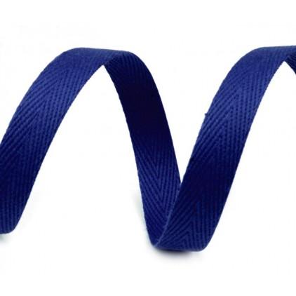 Taśma bawełniana 4756- szerokość 14mm - 1 metr -  błękit pruski