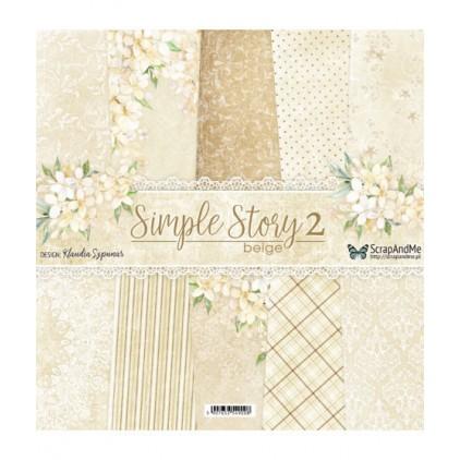 Zestaw papierów do tworzenia kartek i scrapbookingu  - ScrapAndMe - Simple Story 2- beige
