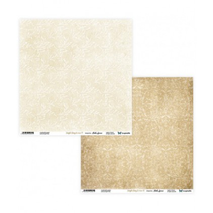 Set of scrapbooking papers - ScrapAndMe - Simple story 2- beige - 01/02