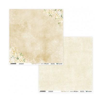 Papier do tworzenia kartek i scrapbookingu - ScrapAndMe - Simple story 2- beige - 03/04