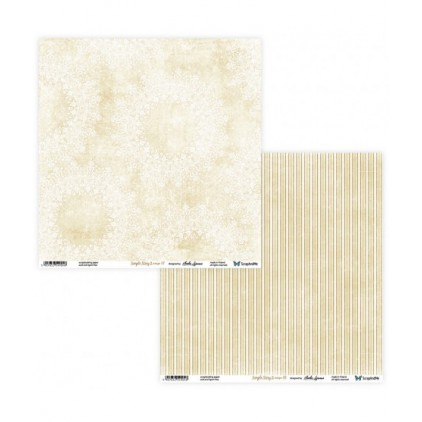 Set of scrapbooking papers - ScrapAndMe - Simple story 2- beige  - 07/08