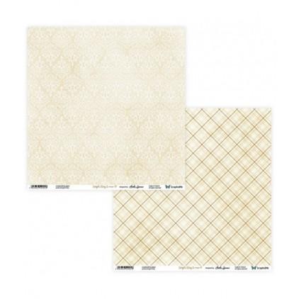 Papier do tworzenia kartek i scrapbookingu  - ScrapAndMe - Simple story 2- beige - 09/10