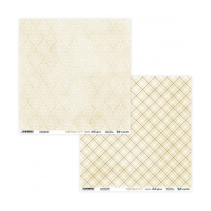 Set of scrapbooking papers - ScrapAndMe - Simple story 2- beige  - 09/10
