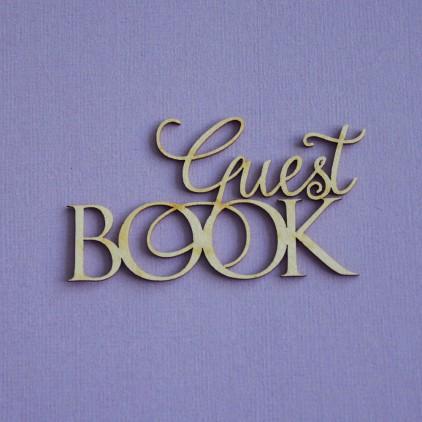Tekturka -Crafty Moly - napis Guest Book 2- G4