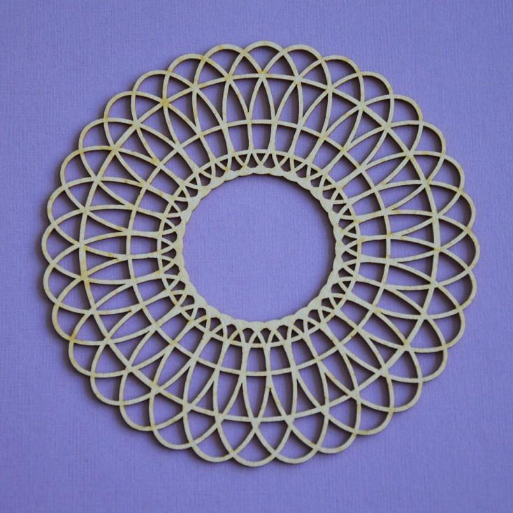 Cardboard element - Crafty Moly - Big lace 4 - G15