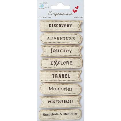 Set of stickers CR45289 - Little Birdie  - Printed Canvas Travel - 8 sztuk