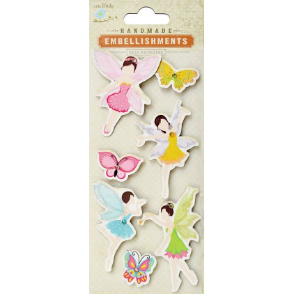 Set of stickers CR42010 - Little Birdie - Fairies & Butterflies - 7 sztuk