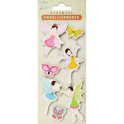 Zestaw naklejek CR42010 - Little Birdie - Fairies & Butterflies - 7 sztuk