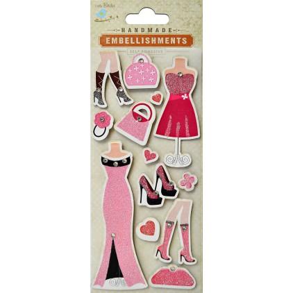 Zestaw naklejek CR39684 - Little Birdie - Glamour Dress- 13 sztuk