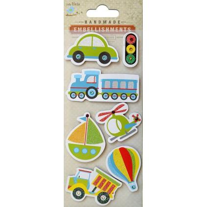 Zestaw naklejek CR40090 - Little Birdie - Modes of transportation -7 sztuk