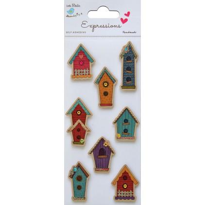 Zestaw naklejek CR37334 - Little Birdie - Kraft printed House - 8 sztuk