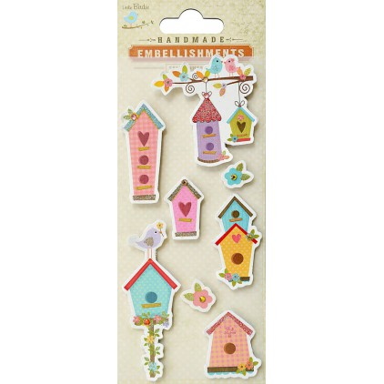 Set of stickers CR41911 - Little Birdie - A birdie home - 8 pcs.