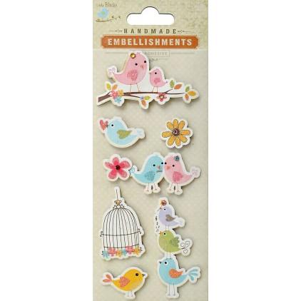 Zestaw naklejek CR41910 - Little Birdie - Family of birds - 8 sztuk