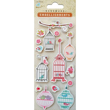 Set of stickers CR41126 - Little Birdie -Hanging birdcage -14 pcs.