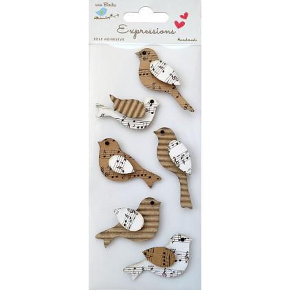 Zestaw naklejek CR42279 - Little Birdie - Birds -6 sztuk