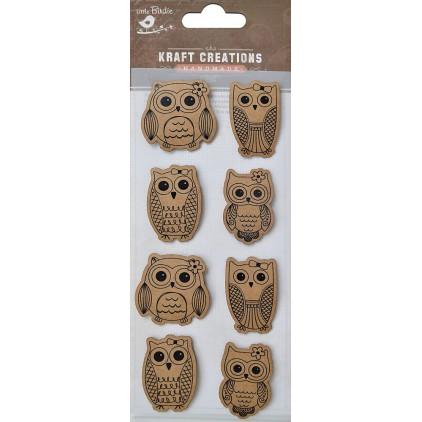 Set of stickers  CR42431 - Little Birdie - Pretty wise owls - 8 pcs.