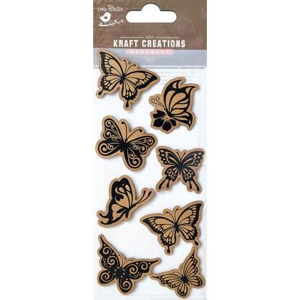 Zestaw naklejek CR42520 - Little Birdie - Designer flutters - 8 sztuk