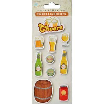 Zestaw naklejek CR40121 - Little Birdie - Cheers to a beer - 10 sztuk
