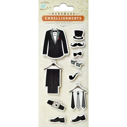Set of stickers CR39563 - Little Birdie - Bridegroom suit - 11 pcs.