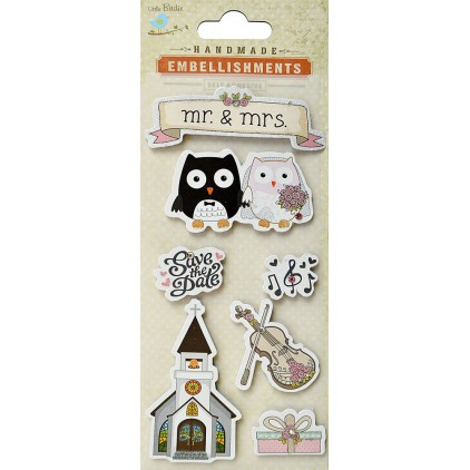 Set of stickers CR39564 - Little Birdie - Save the date - 7 pcs.