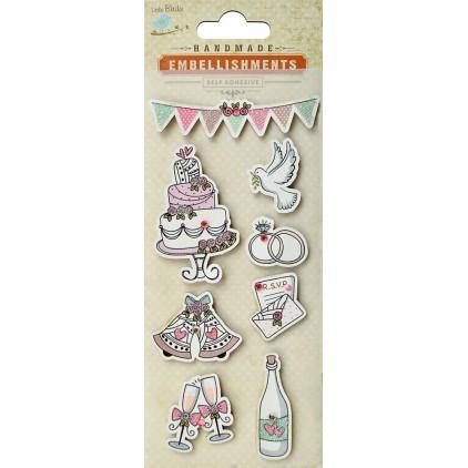 Set of stickers CR39566 - Little Birdie - Wedding RSVP - 8 pcs.